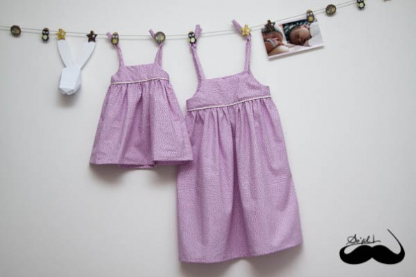 Robes assorties pour Charlotte et Mathilde sofilcreations 01