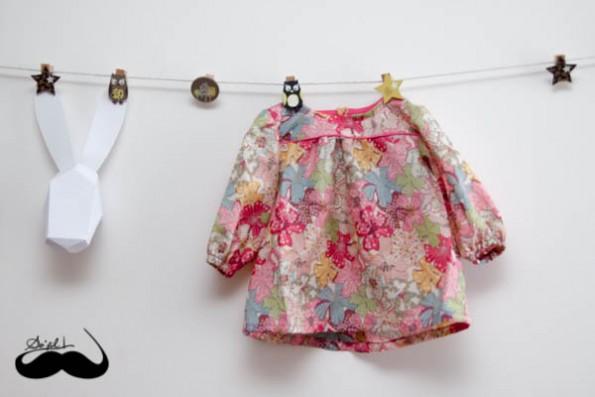 Petite blouse en mauvey sofilcreations 01