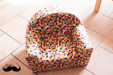 assise fauteuil mousse pixel