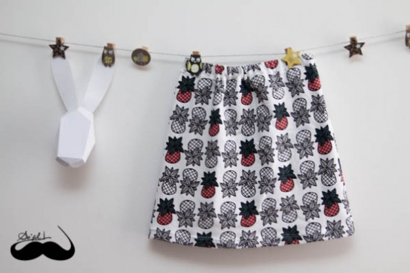 sweat skirt ananas 01